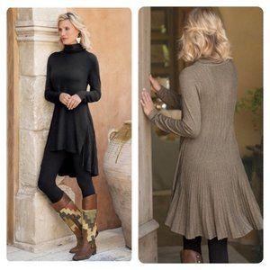 SOFT SURROUNDINGS Cassandra Tunic Black Size XL